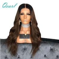 Плотность 150% 20 22 24 объемная волна ломбер два тона Синтетические волосы на кружеве натуральные волосы парики черный темные корни с для воло