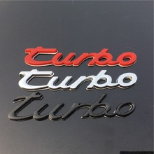 3D Metal TURBO Emblem Car Styling Turbo Boost Loading Boosting Badge Sticker Decal Auto Accessory