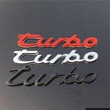 3D โลหะ TURBO สัญลักษณ์รถจัดแต่งทรงผมรถ Turbo Boost โหลด Boosting 3D Emblem Badge สติกเกอร์รูปลอก Auto อุปกรณ์เสริม