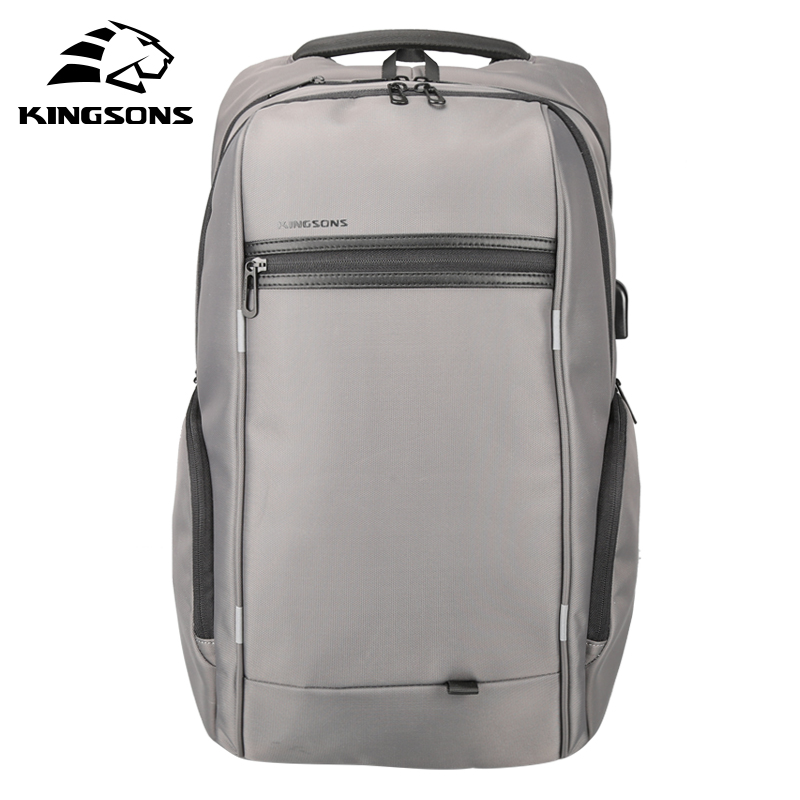 Kingsons Waterproof Men Women Backpack with USB Charge 13.3 15.6 17.3 inch Laptop Computer Backpack Travel Backpack School Bag waterproof lightweight stylish classical school backpack pure color fashion laptop backpack with usb charge port