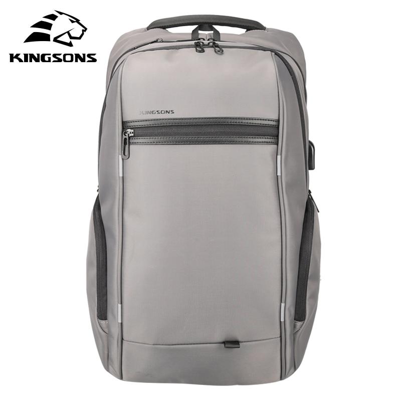 Kingsons Waterproof Men Women Backpack With USB Charge 13.3 15.6 17.3 Inch Laptop Computer Backpack Travel Backpack School Bag