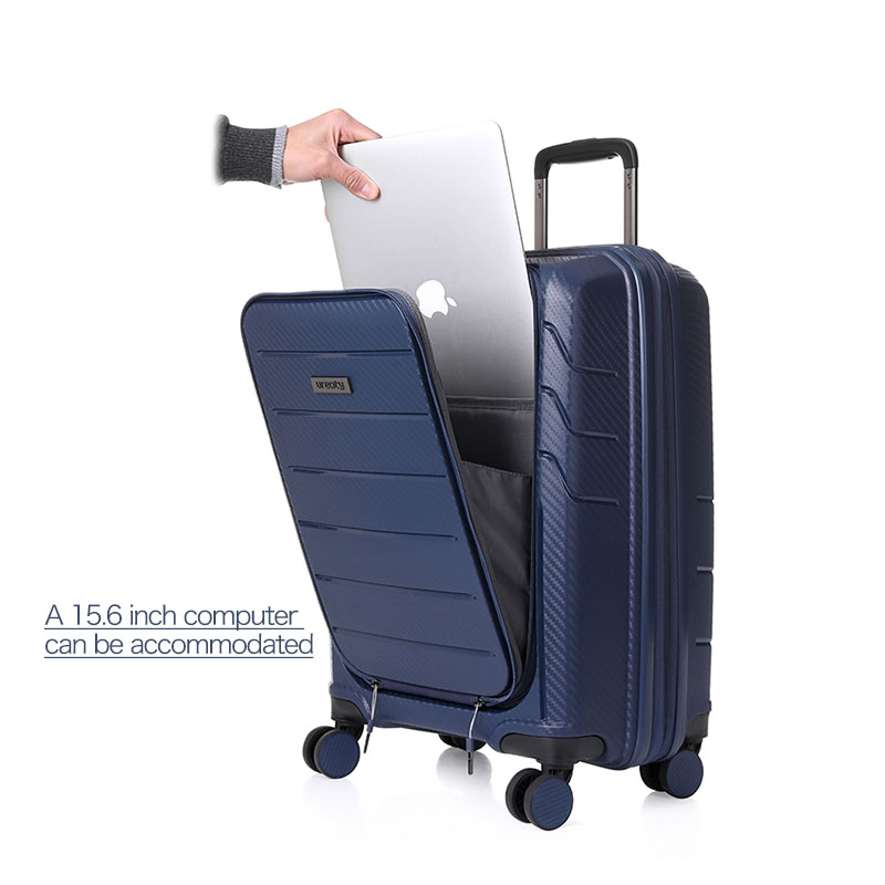 travel high quality luggage business PP material suitcase rolling spinner wheels luggage computer bag