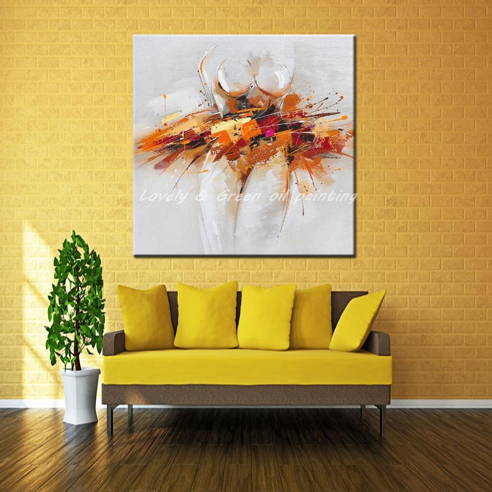 Handpainted Oil Painting On Canvas Modern Abstract Art Paintings And ...