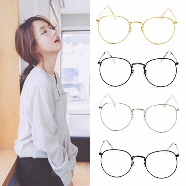4c034ce1ecc Vintage Men Women Eyeglass Frame Glasses Round Spectacles Clear Lens Optical  Unisex New Hot 2017