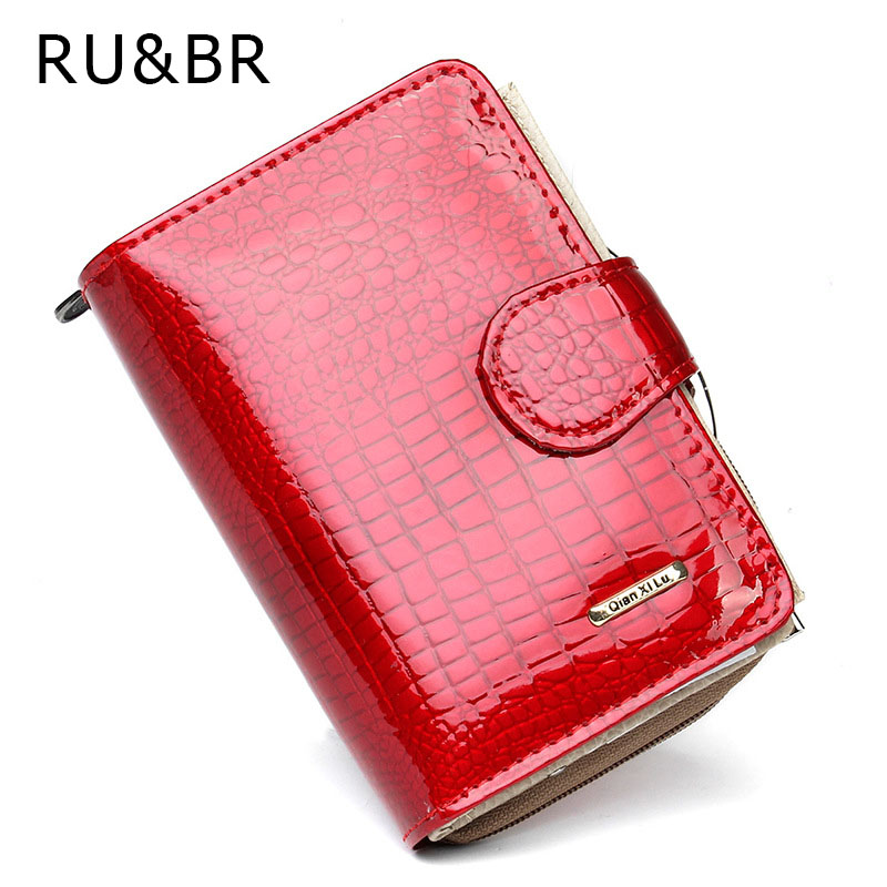 RU&BR Coat Of Paint Womens Wallet New Fashion Purse Women's Cowhide Clutch Zipper Credit Cion Pocket Card Holder Genuine Leather kenneth cole new york womens leather clutch wallet w iphone smart phone pocket