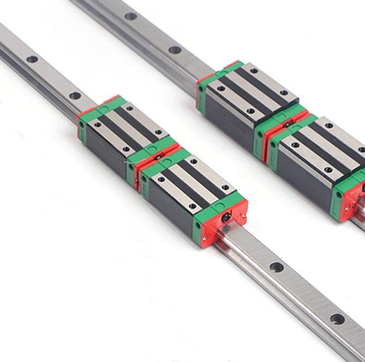 2pcs Linear Rail Guide HGR20 L 1500MM 4pcs HGH20CA Linear Narrow Sliding Block HGH20 China Made