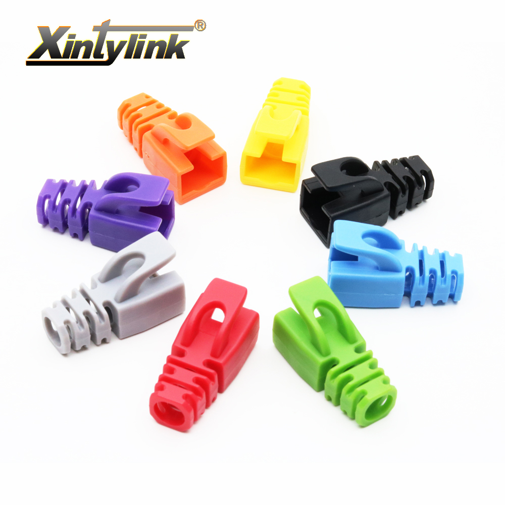 Xintylink Multicolour Rj45 Caps Cat6 Cat5e Connector Boots Sheath Wiring Sockets 8p8c Protective Sleeve For Ethernet Cable Network Connectors