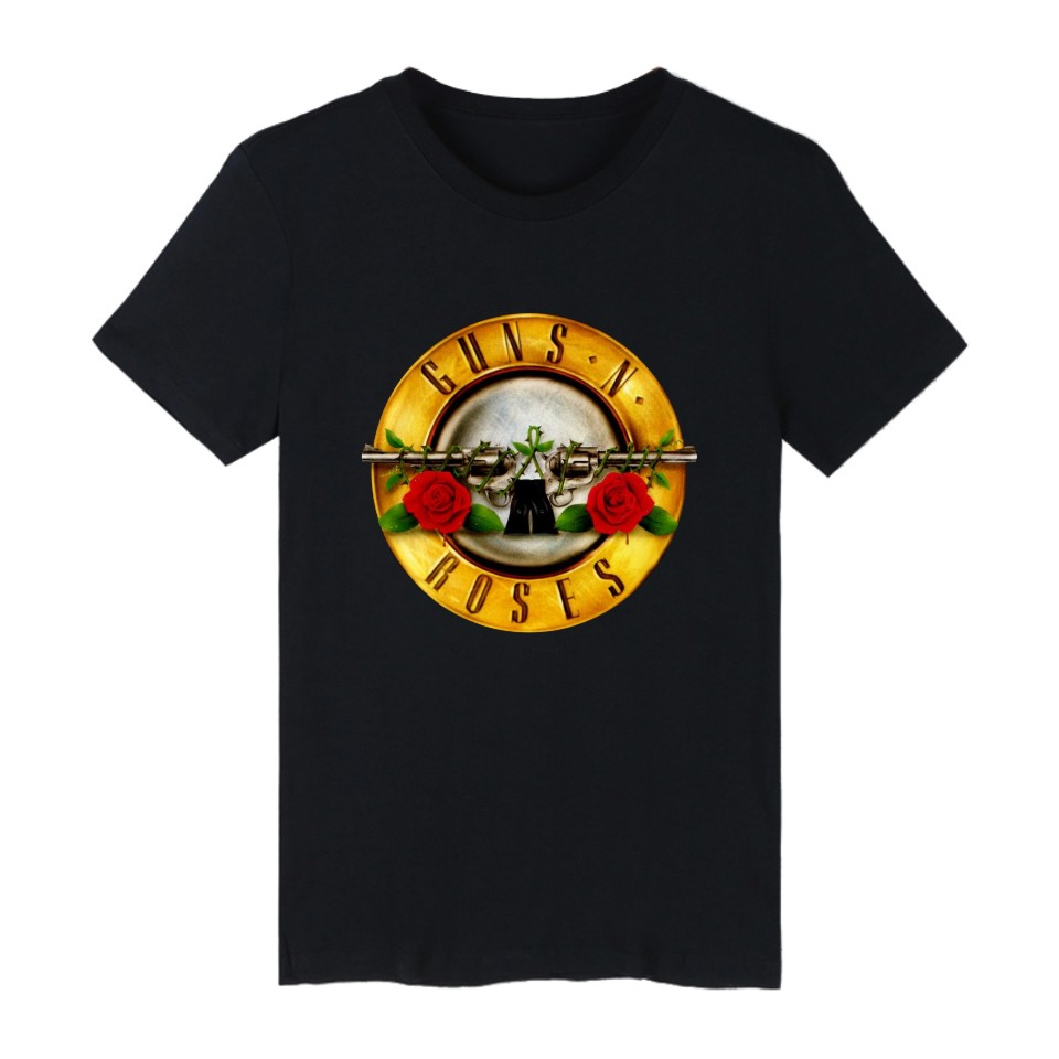 Guns N Roses Rock Band Short Sleeve T-shirt Hip Hop Punk Music Guns and Roses TShirts fo ...