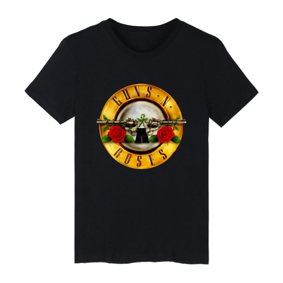 Guns N Roses Rock Band Short Sleeve T-shirt Hip Hop Punk Music Guns and Roses TShirts for men women T Shirts White Tee Shirt