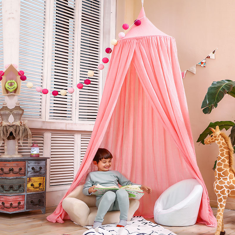 Children Canopy Tent Playhouse Kids Crib Netting Play Tent Baby Hanging Teepees Tipi Mosquito Net For Boy Girls Room Decoration baby bed curtain kamimi children room decoration crib netting baby tent cotton hung dome baby mosquito net photography props