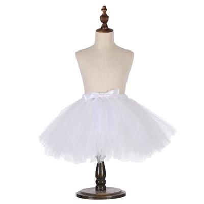 Милые пышные мягкие фатиновые юбки-пачки для малышей; юбка-американка для дня рождения для новорожденных; юбки-пачки для девочек; детские юбки-пачки; одежда для малышей - Цвет: Белый