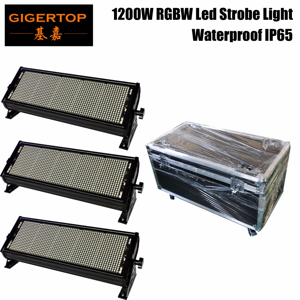 TIPTOP Led Outdoor RGBW 1200W Colorfully Strobe Professional Stage Lighting 1200 X 1W Super Bright Stage Flash Lighting IP65