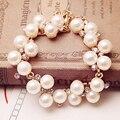 Charm Bracelets Crystal Gold Plated Rhinestone Beads Bangle Wedding Jewelry Accessories Gift