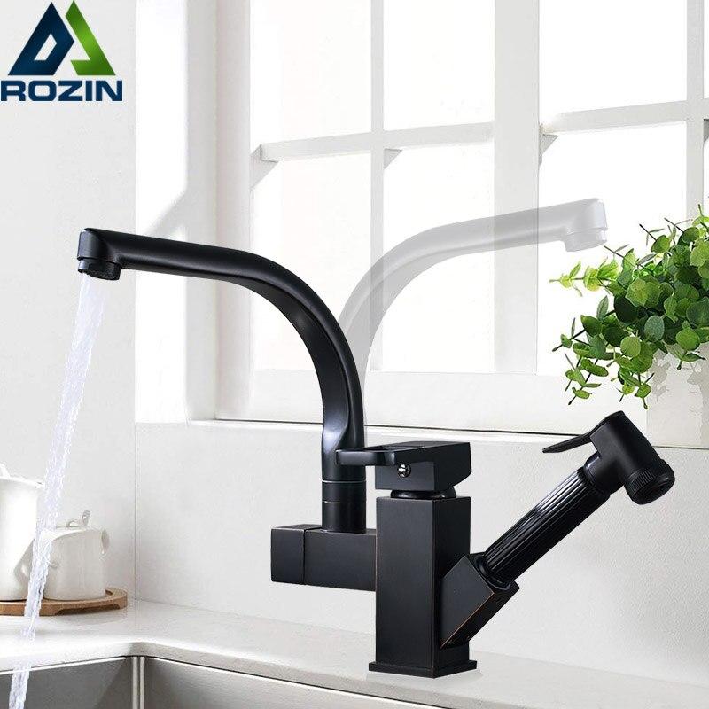 Aliexpress Com Buy Black Bronze Swivel Spout Kitchen