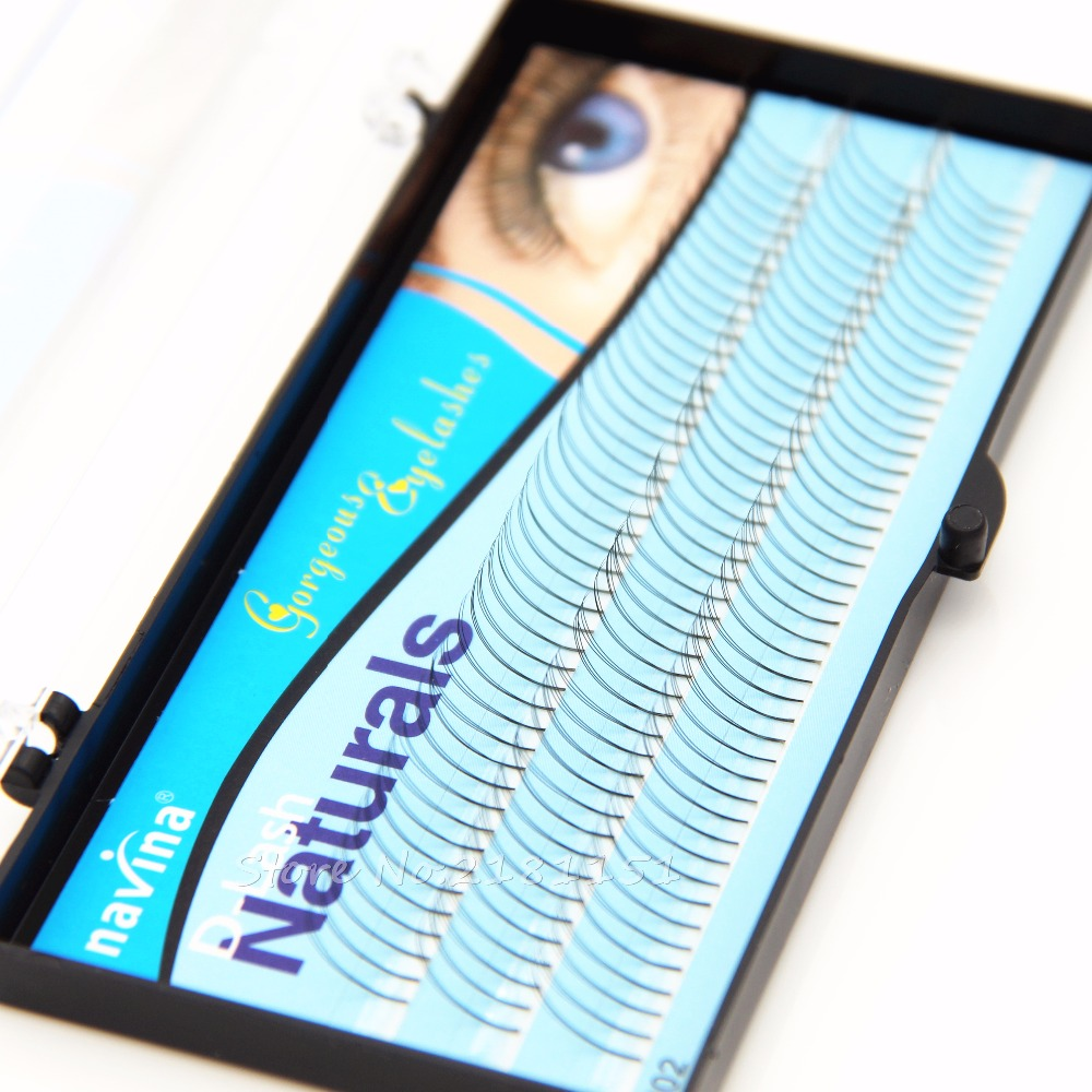 Navina 135 sloksnes 8mm / 10mm / 12mm Natural Soft False skropstu pieaudzēšana Deluxe Lashes VOLUME Flase skropstu ventilatori