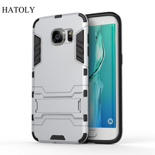 hot deal buy case for samsung galaxy s7 edge cover soft tpu + plastic for samsung s7 edge g9350 phone mobile shockproof funda coque capa case