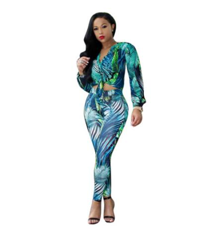 Honey 2 Piece Set Women Tracksuits Casual Suit Sportswear Printed Tie Up Long Sleeve Crop Top And Pant Jogger Set Sweat Suits Dw593 Special Summer Sale Women's Sets Suits & Sets