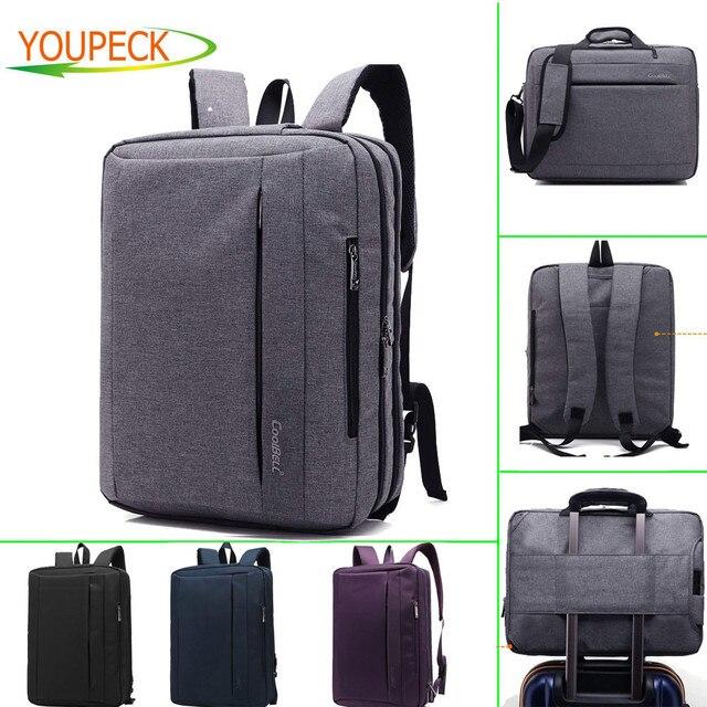 Convertible Large Laptop Bag 15 6 17 3 Inch Notebook Briefcase Messenger Shoulder Backpack
