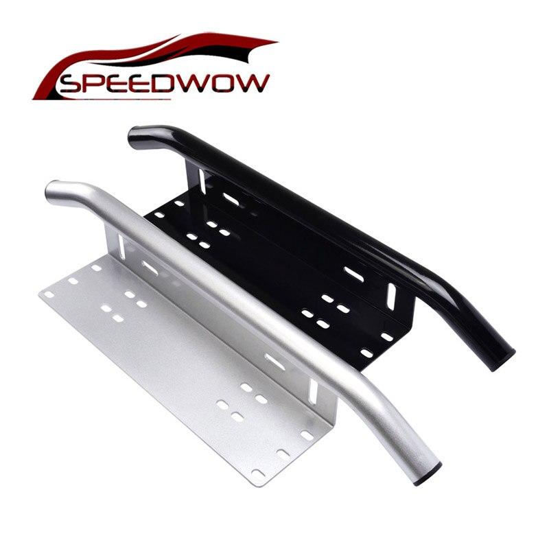 SPEEDWOW lampes de travail universelles support de plaque d'immatriculation support de Braket barre de lumière tout-terrain barre de taureau pare-choc avant brouillard