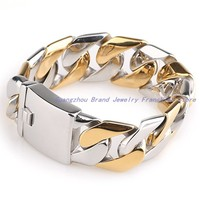High Tech Fully Polished Trendy Jewelry 316L Stainless Steel Silver And Plating Rose Gold Men S