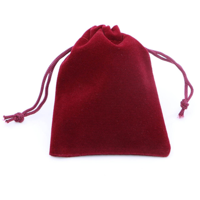 20pcs Lot Jewelry Bag Velvet Pouch Gift Bags With Drawstring Jewellery Packaging Whole Pouches