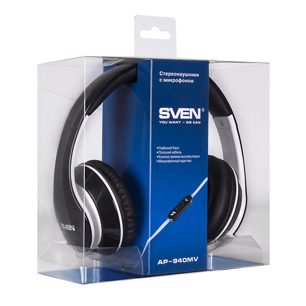 Consumer Electronics Portable Audio & Video Earphones & Headphones SVEN SV-0410940MVBKWT