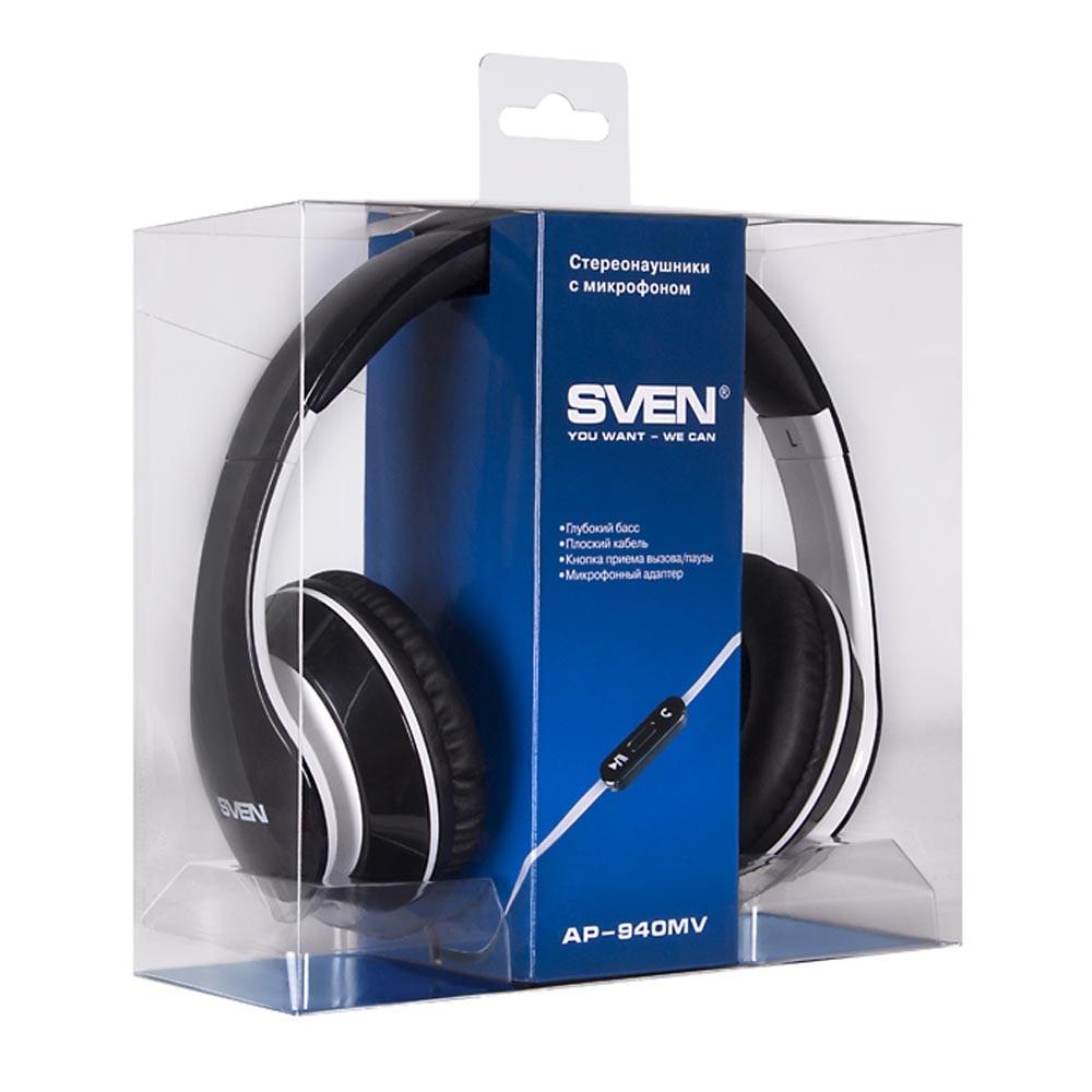 Consumer Electronics Portable Audio & Video Earphones & Headphones SVEN SV-0410940MVBKWT consumer electronics portable audio