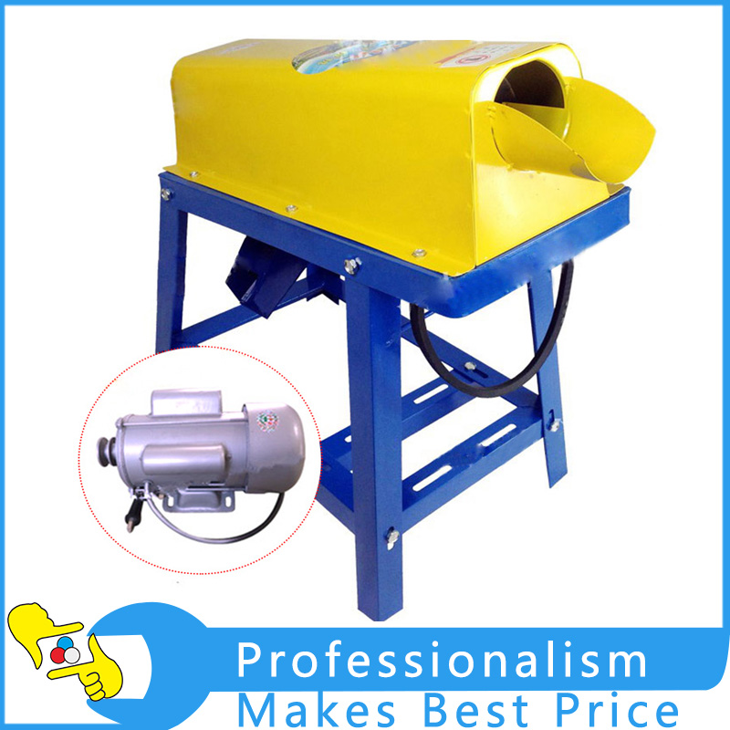 Three colors random delivery 220V Electric Corn Thresher Round angle belt motor Sheller Threshing Stripping Stripper small seed sunflower threshing machine sunflower seeds thresher sheller