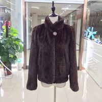 BFFUR Import Real Mink Fur Coat Thick Warm Coat Winter Outwear Natural Color Parka For Women