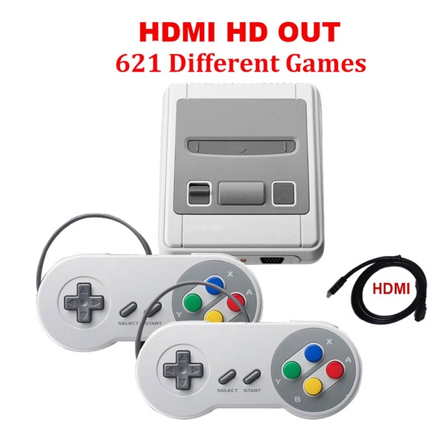 HDMI Mini Retro TV Handheld Game Console Video Game Console mini Games player Built-in 621 Different Games dual gamepads HD