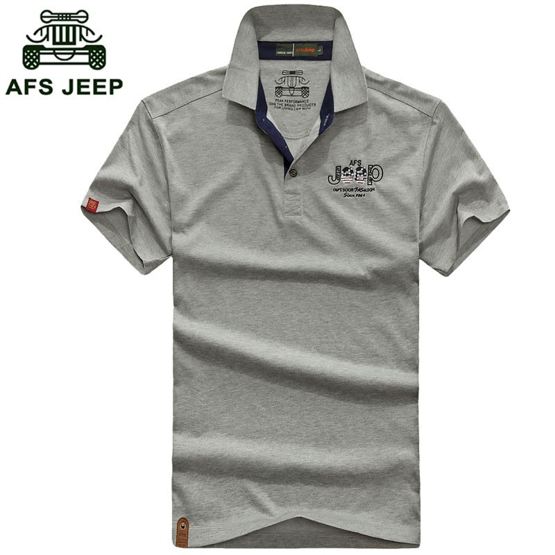 2016 New Summer Polo Casual Fashion Shirt Short Sleeve Tees Men Cotton Tops AFS JEEP Brand Solid Color Shirt Fashion Plus Size (2)
