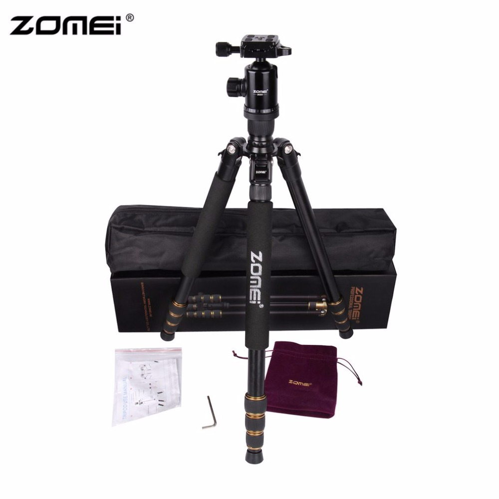 Zomei Z688 Portable Flexible Camera Tripod Stand With Ball Head Quick-Release Plate For DSLR SLR Camera With Carrying Case aluminium alloy professional camera tripod flexible dslr video monopod for photography with head suitable for 65mm bowl size