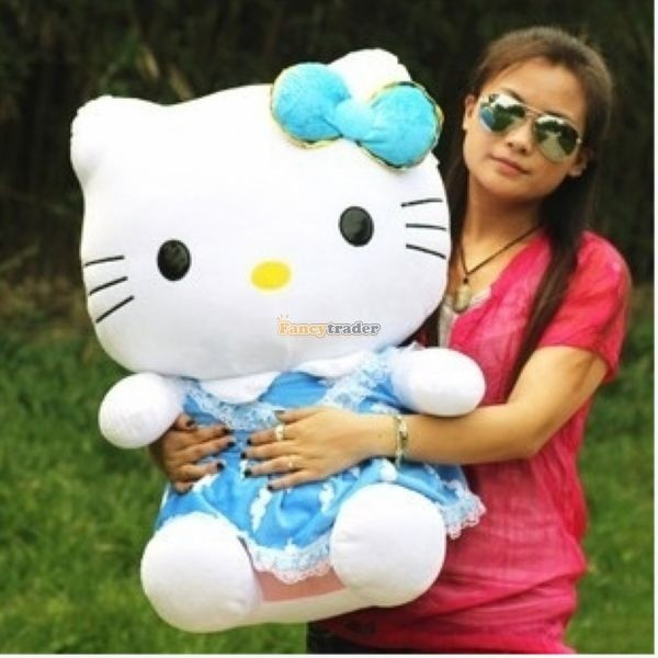 Fancytrader 28\'\' 70cm Lovely Giant Stuffed Soft Plush Big Giant Hello Kitty, 3 Colors, Free Shipping FT50759(2)