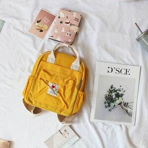 Image 3 - Mochila Ulzzang de Corea del Sur, bolso suave Ins para mujer, estudiante, Harajuku japonés, pequeña, color morado