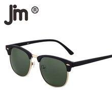 JM Retro Half Frame Semi Rimless Gradient Lens Sunglasses Wo