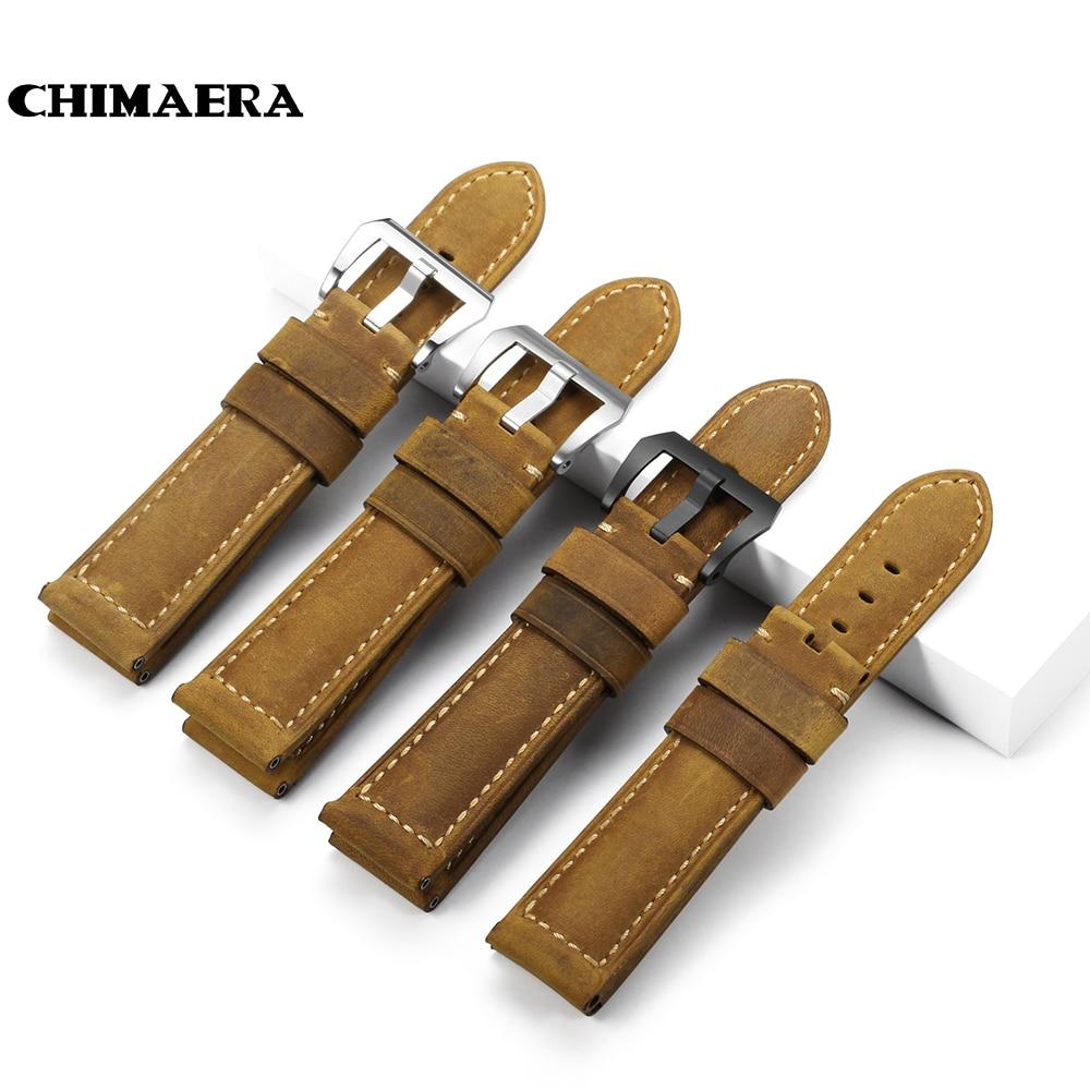 CHIMAERA 22mm 24mm 26mm Calf Skin Genuine Leather Watch ...