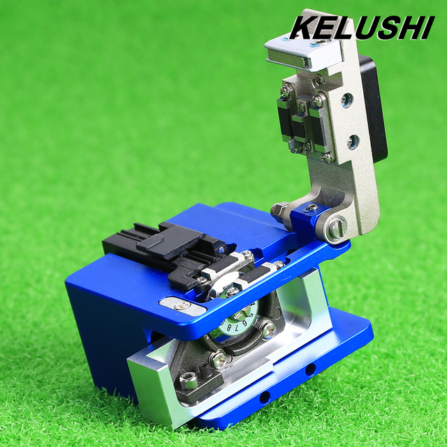 KELUSHI Fiber Optic Tool Fiber Cleaver Single Mode 125um Cutter For Fiber Optical Cold Connector Connection fiber fusion Splicer