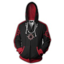 Anime Kingdom Hearts Sweatshirts Men and Women Blue Zipper Hoodies Sora 3d Print Hooded Jacket for Boys Harajuku Streetwear