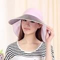 Female UV Sunshade Hats Foldable Cap Beach Riding Sun Ladies Sun Hats Summer Cotton Sun Hat Women Visor With a Wide Brim