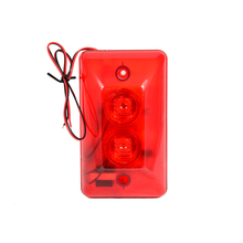 10 PCS Red color Wire use Strobe siren For security alarm anti theft double Siren inside 120DB louder speaker Free shipping