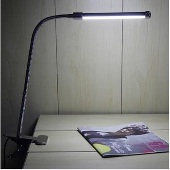 LED clip lamp bureaulamp bedlampje oogbescherming lamp 510-6 w warm licht LED piano leren SD3
