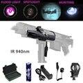 ИК 940 нм масштабируемый светодиодный охотничий свет ночного видения инфракрасного излучения фонарик + крепление + аккумулятор 18650 + реле дав...