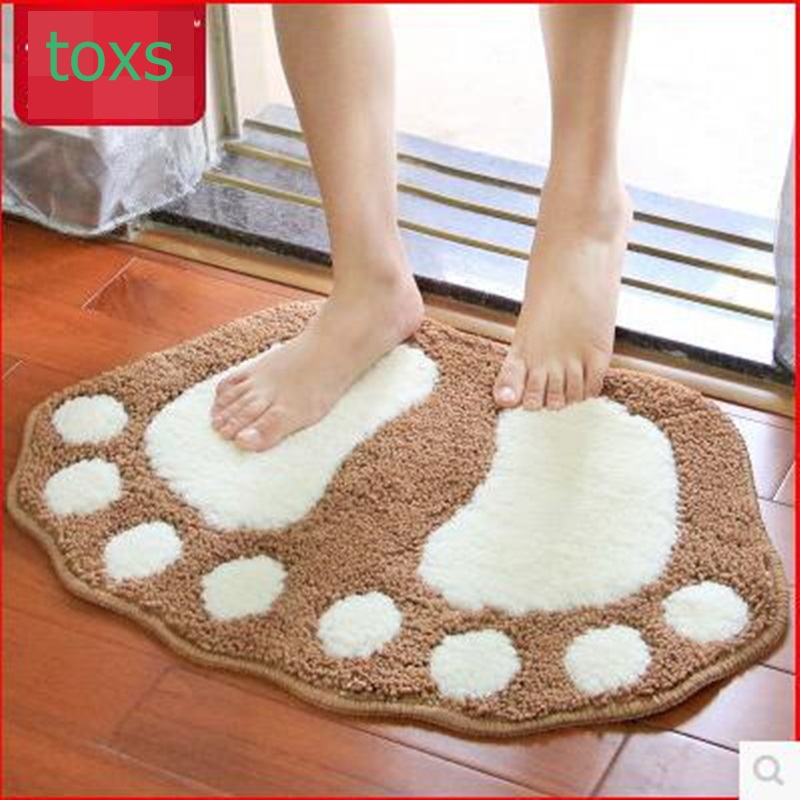 Big feet absorbent mats doormat bathroom carpet bath mat 48cm*67cm for 2 pieces