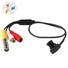 2016 Cheap Analog Camera 650tvl Micro CCTV Security Video Camera With Audio Home Surveillance Wire Wide Angle Mini Cctv Camera