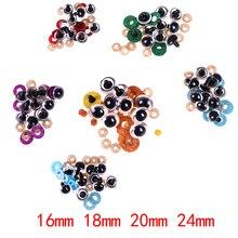 16 24mm 10 sztuk kolor mix plastikowe oczy bezpieczeństwa dla misia wypchana zabawka Snap kukiełka zwierzątko lalki Craft DIY akcesoria