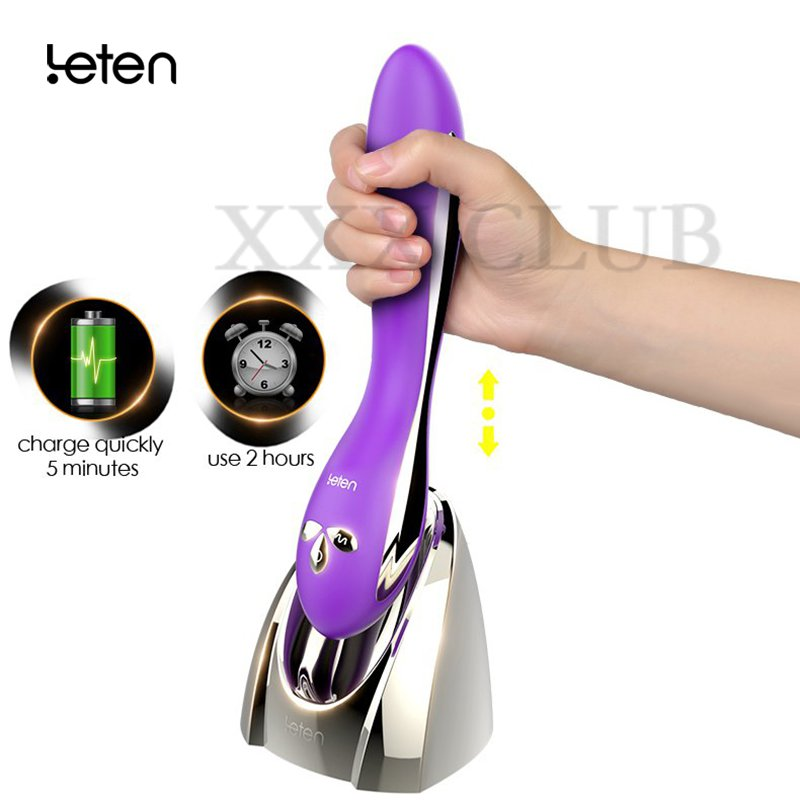 Leten charge quickly Vibrator heating function/waterproof/mute G Spot stimulation dildo vibrator Sex Toys for Woman Masturbator leten clover lucy smartphone app remote control lucybutterfly g spot and clitoral vibrator multi function 10 modes waterproof
