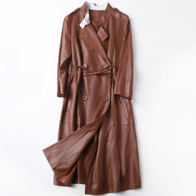 2019 New Fashion Genuine Sheep Leather   Trench   H7