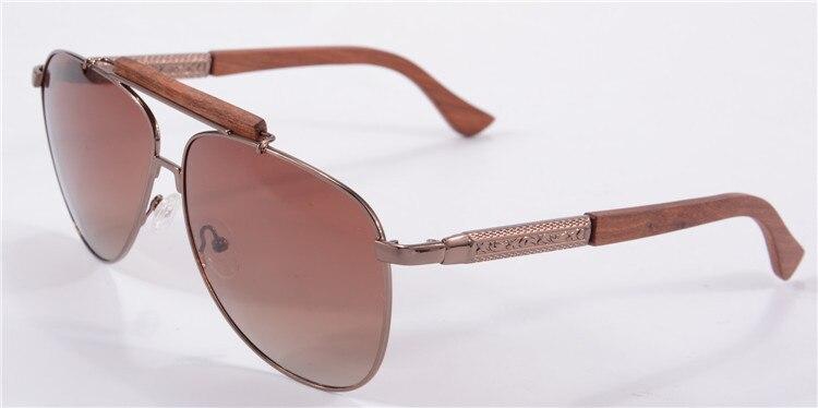 Солнцезащитные очки-авиаторы Для мужчин поляризованные очки, подходят для вождения, солнцезащитные очки с НАСТОЯЩИЙ ДЕРЕВЯННЫЙ руки унисекс UV400 защитные очки Oculos De Sol masculino 1565 - Цвет линз: gradient  brown