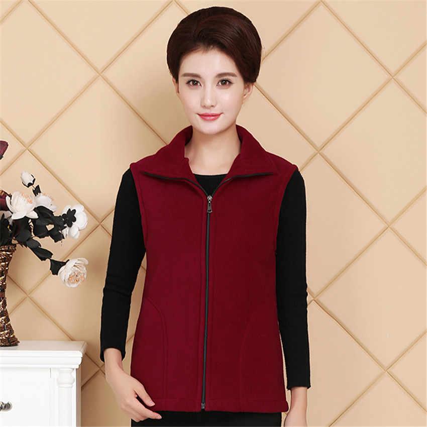 Vrouwen Vest Jacket Nieuwe Herfst Winter Warm Dikke Vesten Jas Vrouwelijke Casual Plus Size 4xl Vest Mouwloze Gilet Uitloper AB611