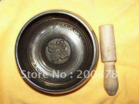 TBC838 Super Healing Tibetan Brass Singing Bowl Carved Flower Big 5 Resale Wholesale